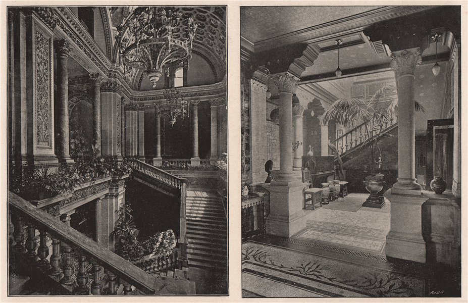 Associate Product Staircase in The Foreign Office; Sir Frederic Leighton's House. London 1896