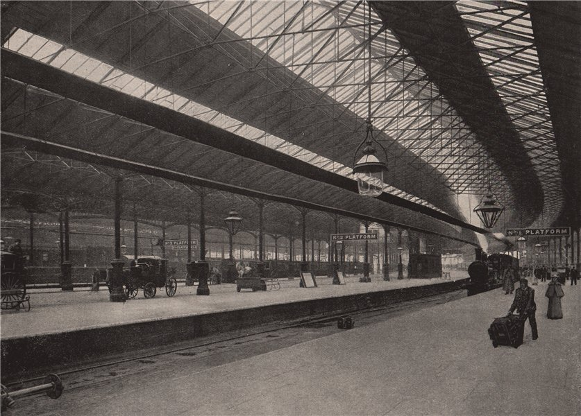 Associate Product In Euston Station. London. Railways 1896 old antique vintage print picture