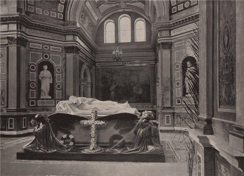 Associate Product Interior of Frogmore Mausoleum. Berkshire. Cemeteries 1896 old antique print
