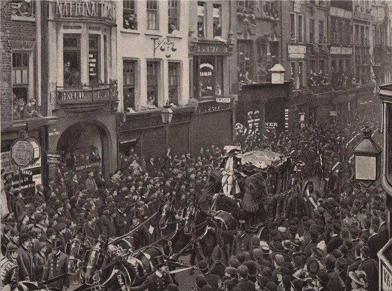 Associate Product The Lord Mayor's Procession (1895), Fleet Street. London 1896 old print