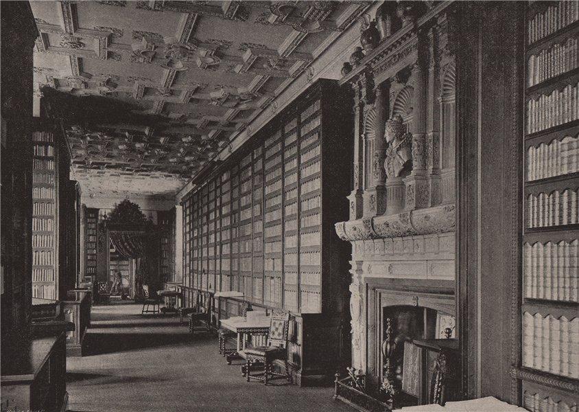 Associate Product Windsor Castle. Queen Elizabeth's Gallery. Berkshire 1896 old antique print
