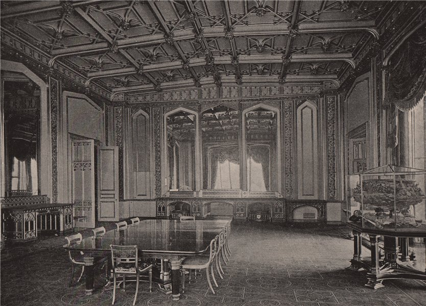 Associate Product Windsor Castle. The State Dining Room. Berkshire 1896 old antique print