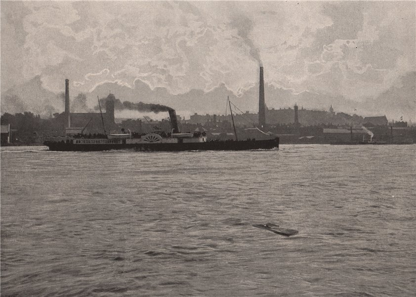 Associate Product Woolwich, from the river. London 1896 old antique vintage print picture