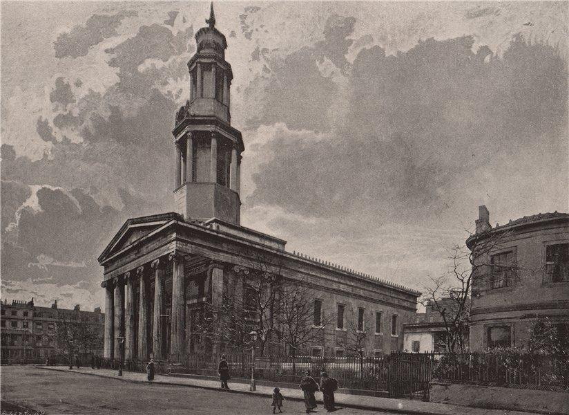 St. Pancras' Church. London. Churches 1896 old antique vintage print picture