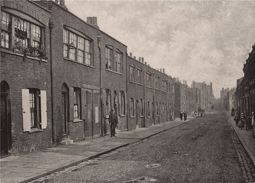 Associate Product Old Weavers' Houses at Bethnal Green. London. Textiles 1896 antique print