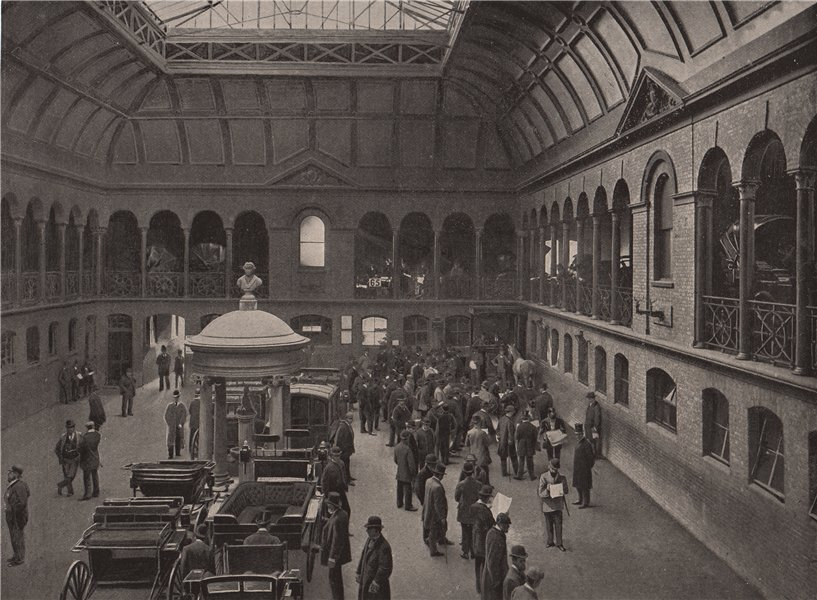 Associate Product A Sale at Tattersall's. London. Auctions 1896 old antique print picture