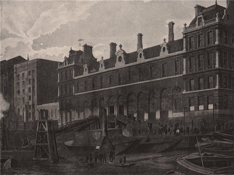 Associate Product Billingsgate Market. London. Markets 1896 old antique vintage print picture