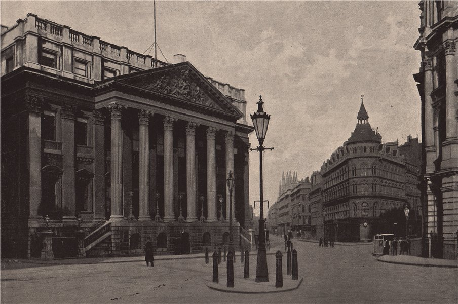 Associate Product The Mansion House at early morning. London. Historic Houses 1896 old print
