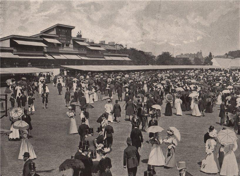Associate Product The Eton & Harrow match at Lord's (1895). Luncheon break. London. Cricket 1896