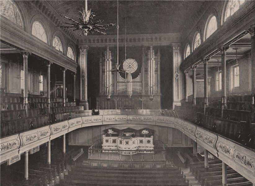 Associate Product The City Temple. London 1896 old antique vintage print picture