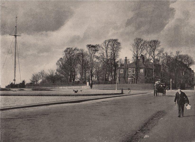 Associate Product Hampstead Heath. The Flagstaff & Jack Straw's Castle approach. London 1896