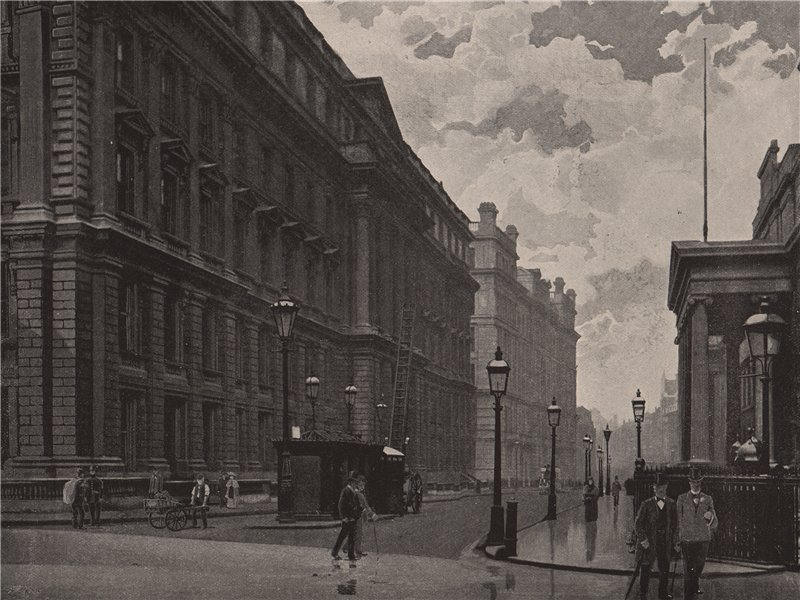 Associate Product St. Martin's-le-Grand. general view of the Post Office buildings. London 1896