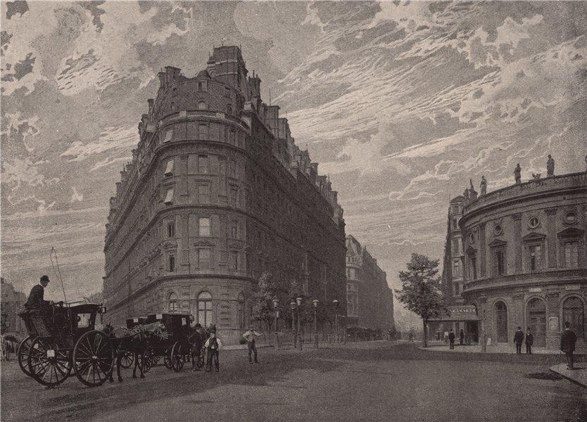 Associate Product The Hôtel Métropole and Northumberland Avenue. London 1896 old antique print