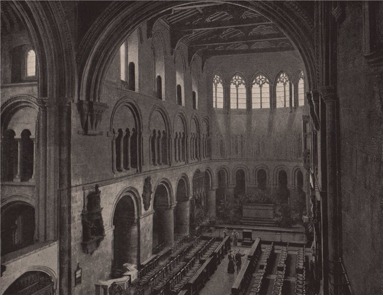 Associate Product St. Bartholomew's-the-Great. London. Churches 1896 old antique print picture