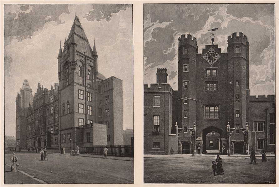 Associate Product The new Royal College of Music; The Gateway, St. James's Palace. London 1896