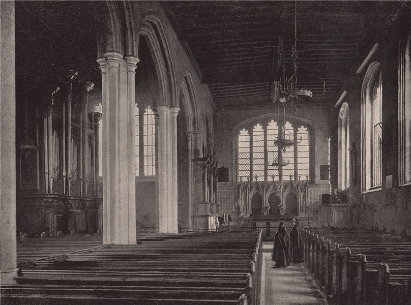 Associate Product Tower of London. Interior of St. Peter's Chapel. London. Churches 1896 print