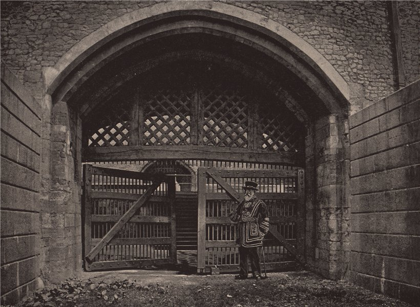 Associate Product The Tower of London. Traitors' Gate. London 1896 old antique print picture