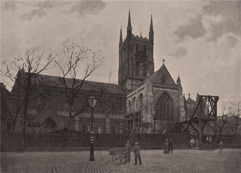 Associate Product St. Saviour's, Southwark. London. Churches 1896 old antique print picture