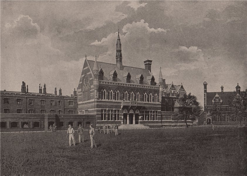 Associate Product Merchant Taylors' School. London. Education 1896 old antique print picture