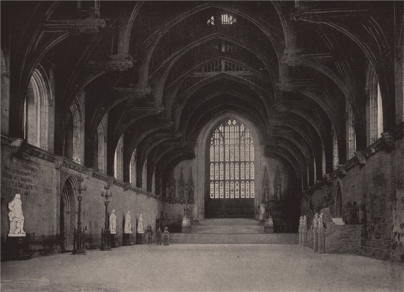 Associate Product Westminster Hall. London 1896 old antique vintage print picture