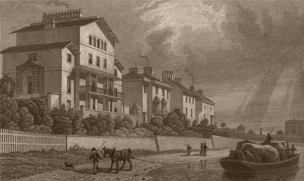 Associate Product REGENT'S PARK. Park village East I. London. SHEPHERD 1828 old antique print
