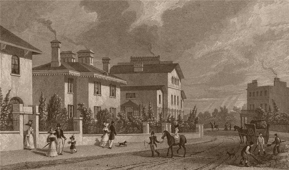 Associate Product REGENT'S PARK. Park village East II. London. SHEPHERD 1828 old antique print