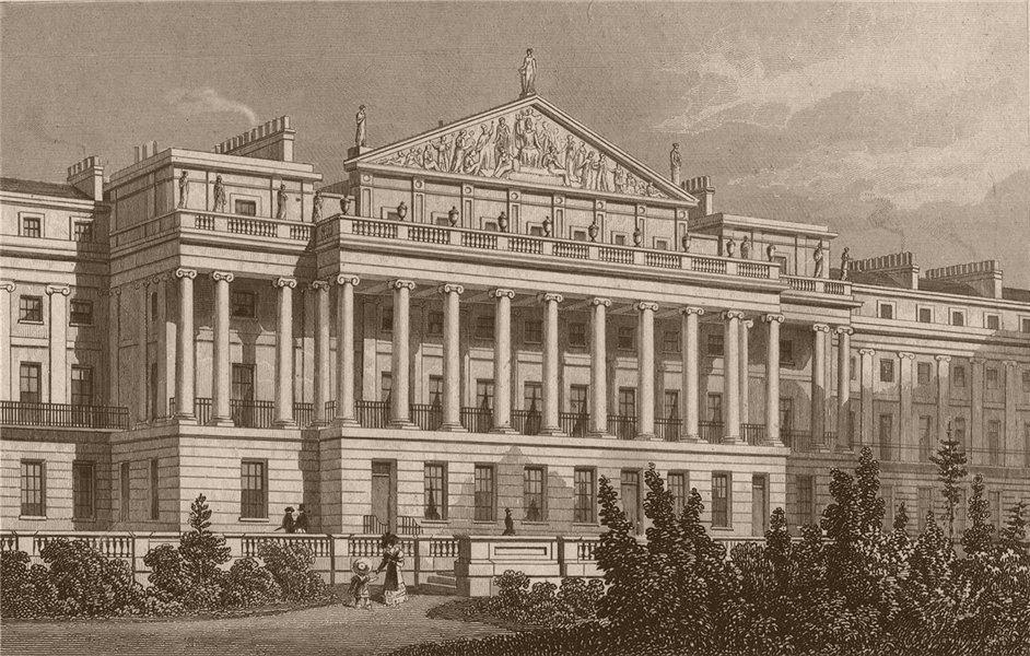 Associate Product REGENTS PARK. The Centre of Cumberland Terrace. London. SHEPHERD 1828 print