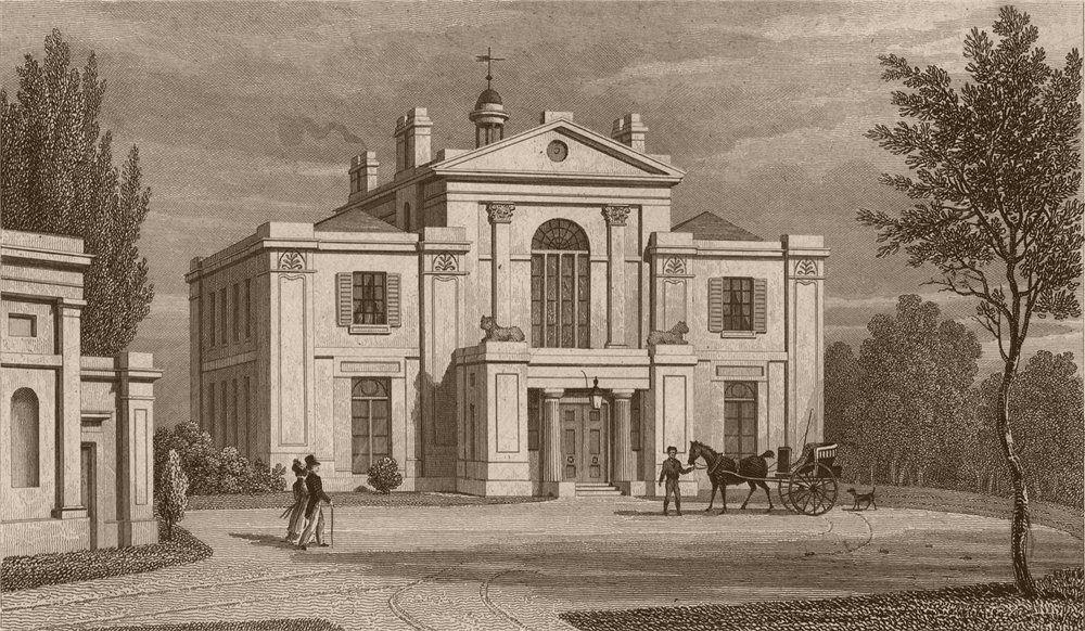 Associate Product REGENT'S PARK St John's Lodge (pre later alterations). Maberly. SHEPHERD 1828