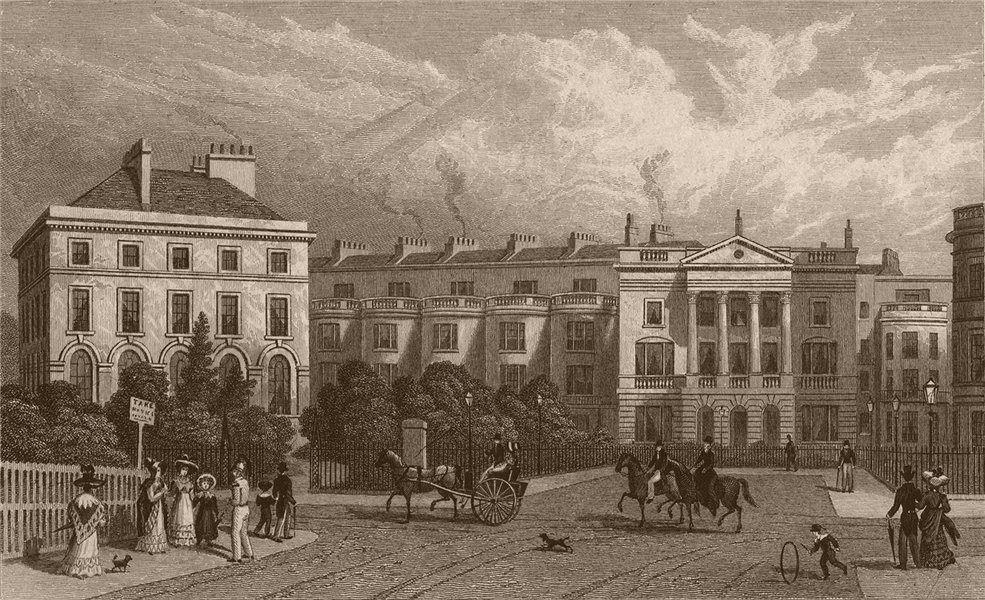 Associate Product REGENT'S PARK. St. Andrews Place. London. SHEPHERD 1828 old antique print