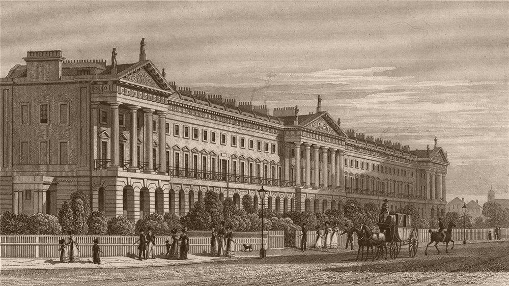 Associate Product REGENT'S PARK. Hanover terrace. London. SHEPHERD 1828 old antique print
