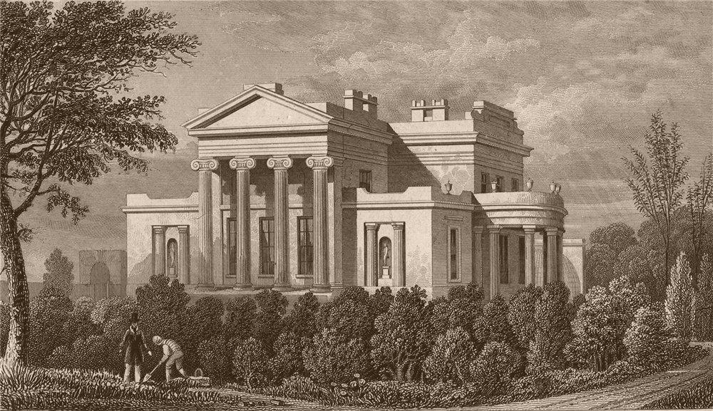 REGENT'S PARK. Grove House (GB Greenhough) [altered in 1907]. SHEPHERD 1828