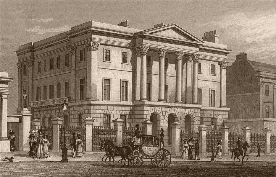 Associate Product HYDE PARK CORNER. Apsley House. London. SHEPHERD 1828 old antique print