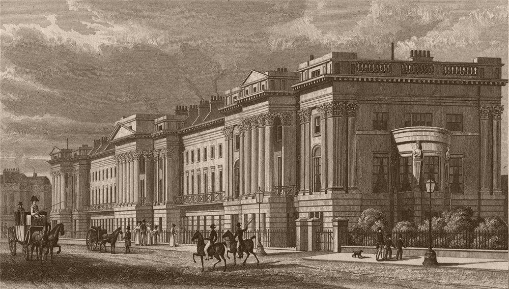 Associate Product REGENT'S PARK. Cornwall Terrace. London. SHEPHERD 1828 old antique print