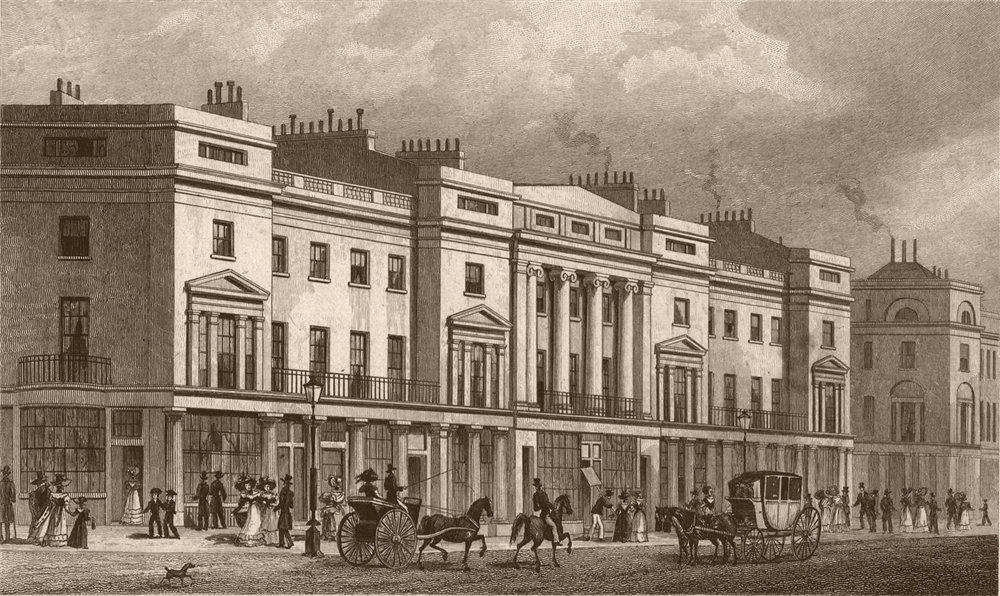 Associate Product REGENT STREET. Part of West Side II. London. SHEPHERD 1828 old antique print