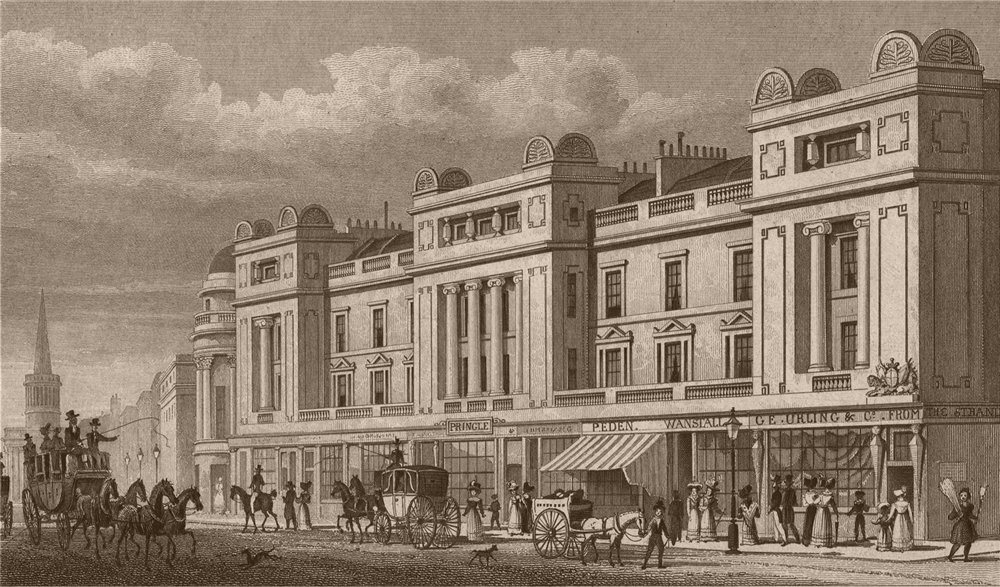 Associate Product 224-240 REGENT STREET East side. Little Argyll - Great Marlborough Street 1828