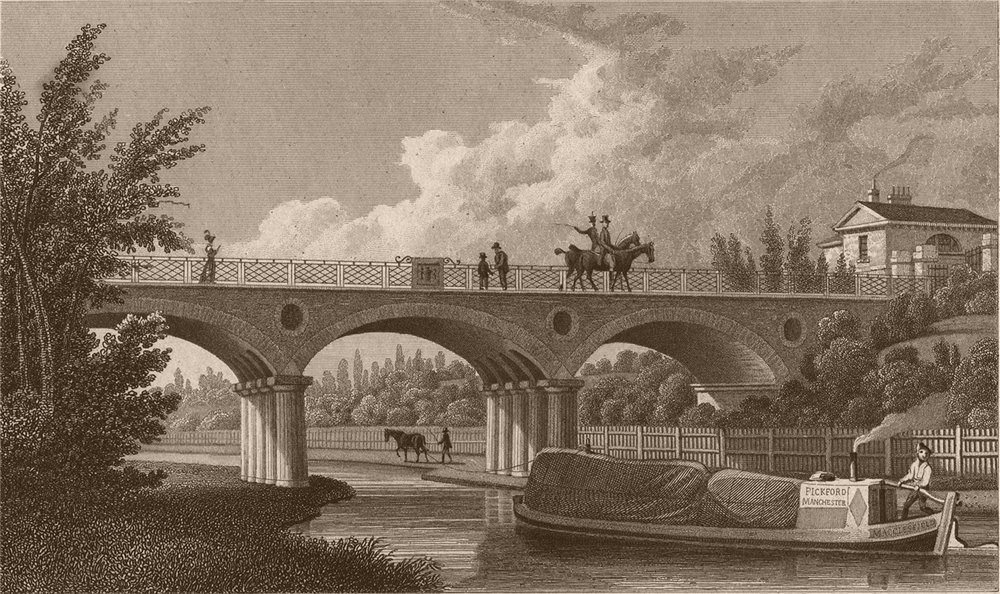 Associate Product REGENT'S PARK. Macclesfield bridge. Destroyed 1874. London. SHEPHERD 1828