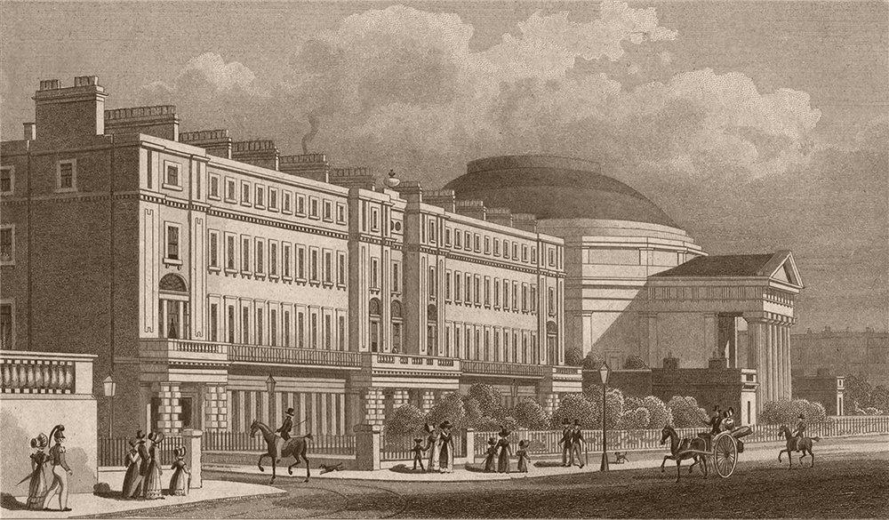 Associate Product REGENT'S PARK. Cambridge Terrace and the Colliseum. London. SHEPHERD 1828