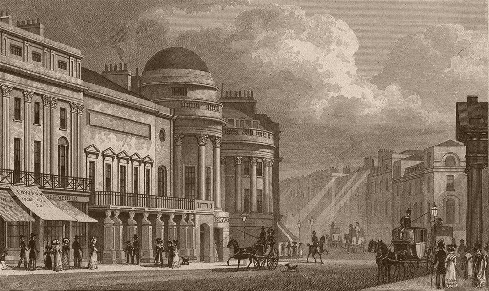 Associate Product REGENT STREET. Harmonic Institution. London. SHEPHERD 1828 old antique print