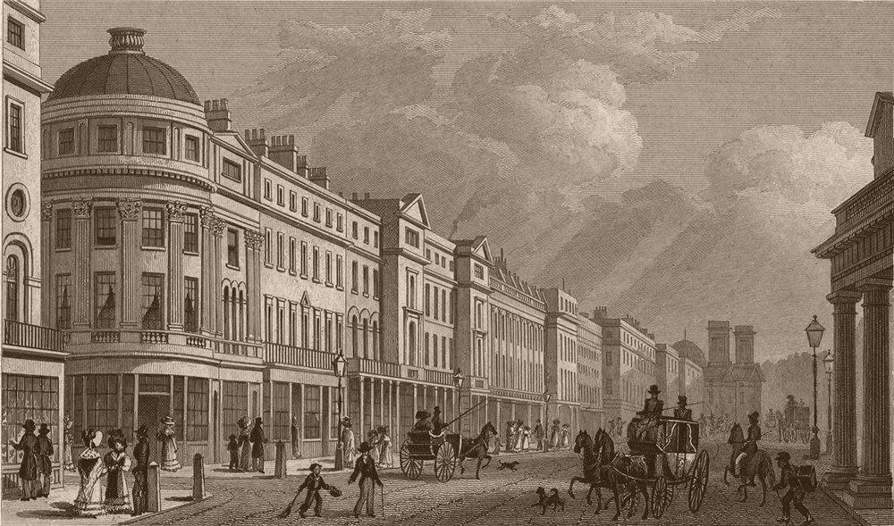 Associate Product 115-227 REGENT STREET. West side looking north.Vigo Street on LHS.SHEPHERD 1828