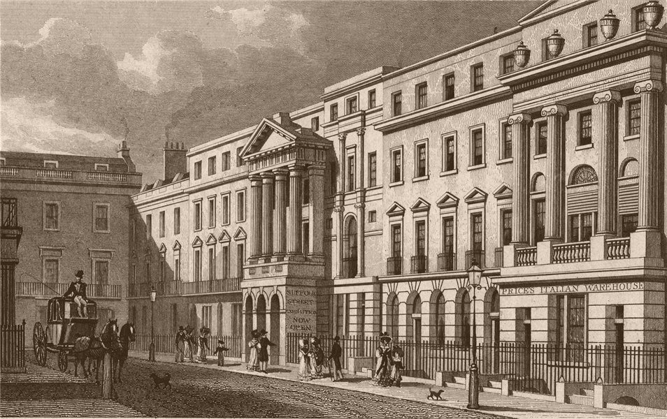 Associate Product PALL MALL EAST. Suffolk Street. London. SHEPHERD 1828 old antique print