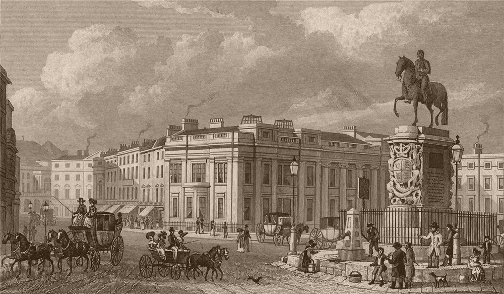 Associate Product CHARING CROSS. Street view. London. SHEPHERD 1828 old antique print picture