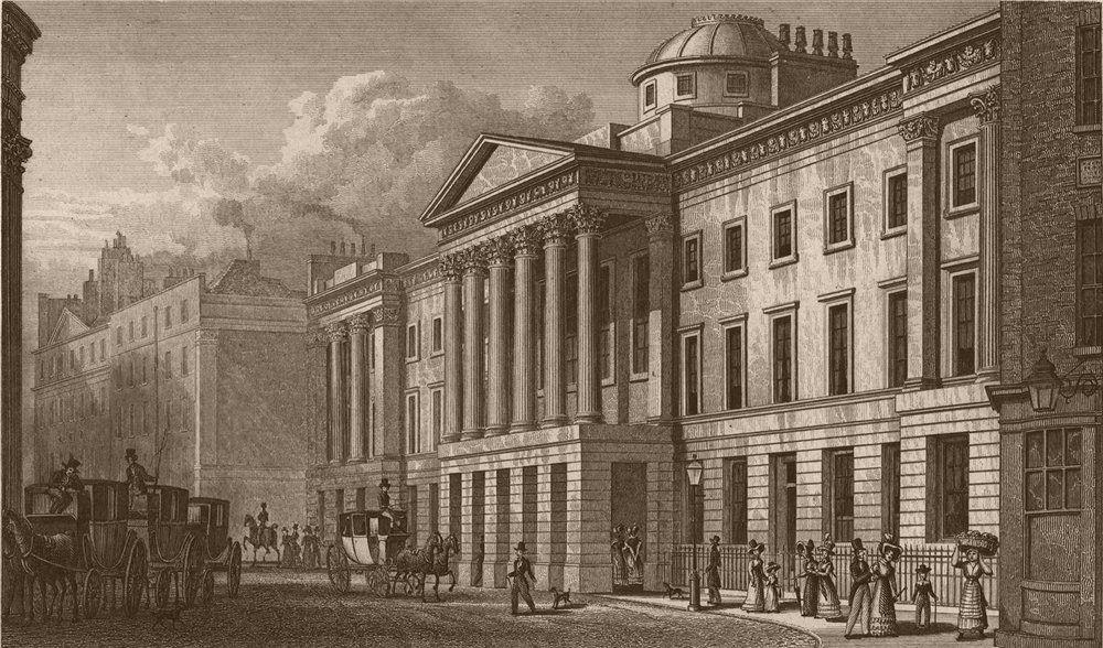Associate Product St. Paul's School. London. SHEPHERD 1828 old antique vintage print picture