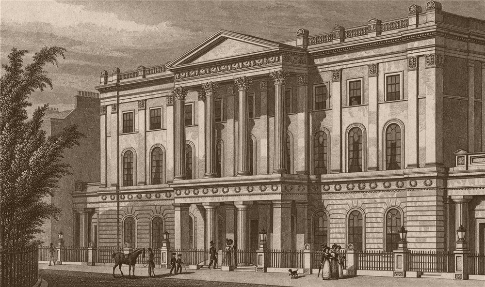 Associate Product FINSBURY CIRCUS. The London Institution. London. SHEPHERD 1828 old print