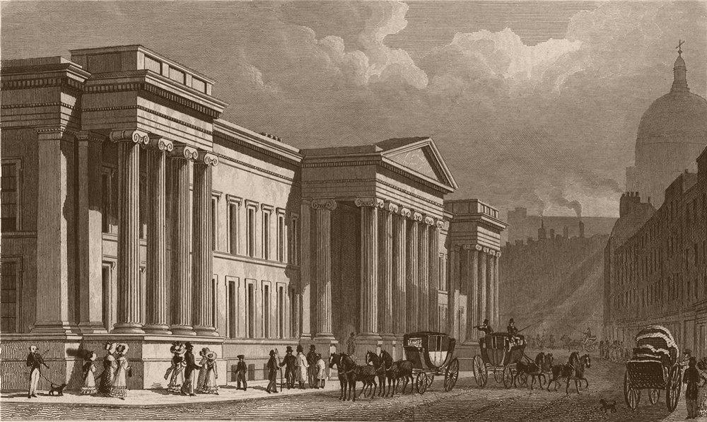 Associate Product ST PAUL'S. The Post Office, St. Martins-le-Grand. London. SHEPHERD 1828 print