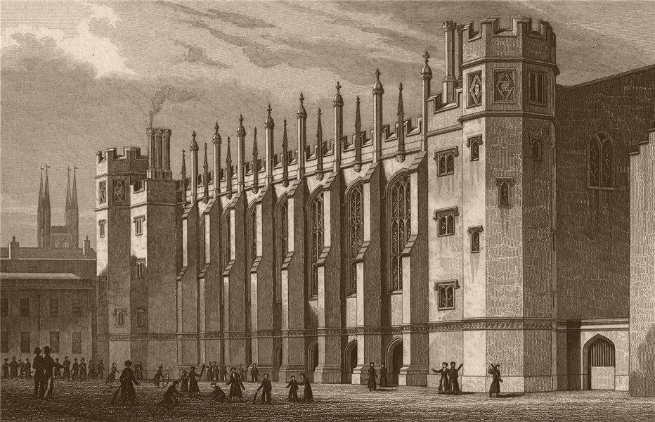 Associate Product NEWGATE. New hall, Christ's Hospital (Bluecoat school). London. SHEPHERD 1828