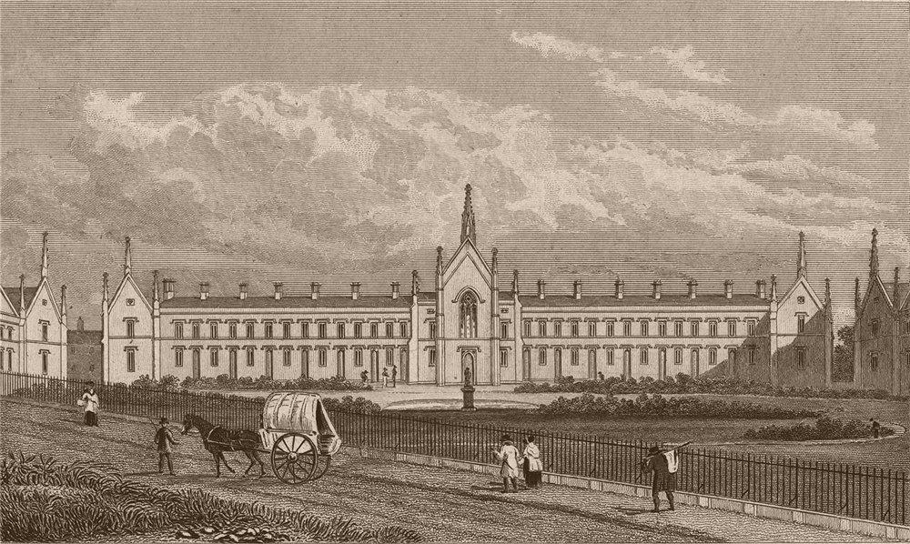 Associate Product HIGHGATE. Whittington's Alms houses (moved 1966). London. SHEPHERD 1828 print
