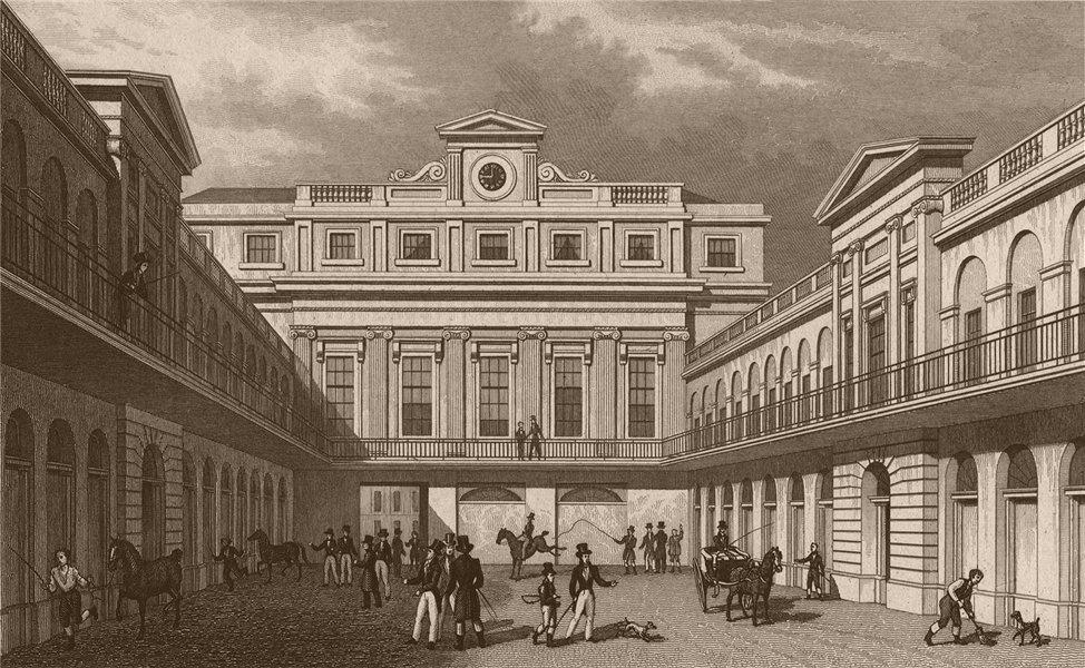 Associate Product KING'S CROSS. London Horse & Carriage Repository N view. SHEPHERD 1828 print