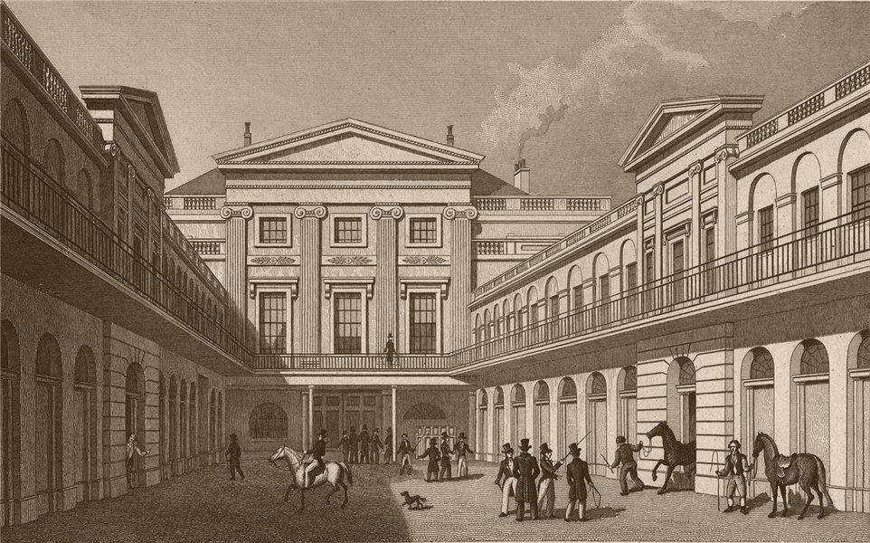 KING'S CROSS. London Horse & Carriage Repository, Gray's Inn Road. SHEPHERD 1828