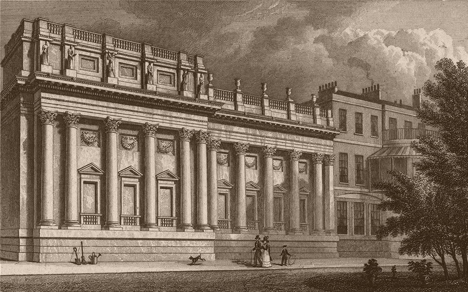 Associate Product MAYFAIR. Lord Grosvenor's Gallery, Park Lane. London. SHEPHERD 1828 old print