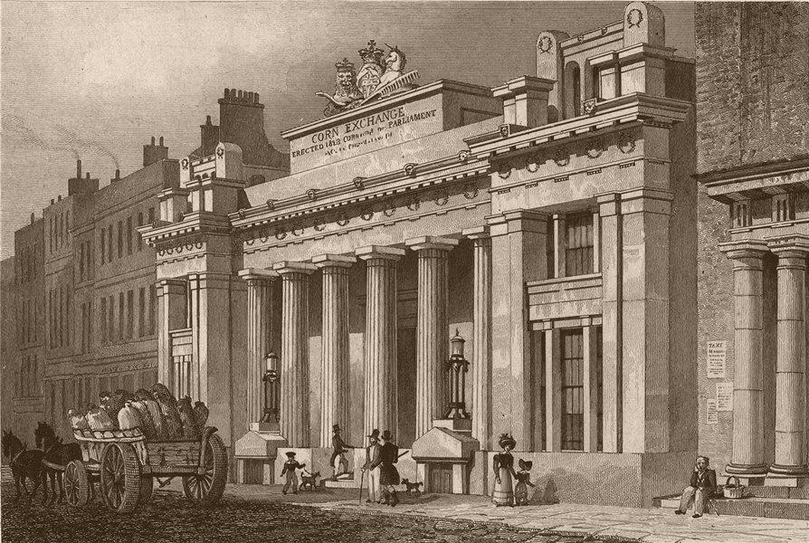 Associate Product MARK LANE. The New Corn Exchange. London. SHEPHERD 1828 old antique print